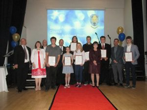 Special Award winners at the Youth Awards Presentation Evening 2015
