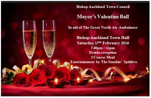 Mayor's Valentine Ball Flyer, 17th February 2018