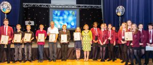Mayor Ann Golightly with Special Award Winners of the Youth Awards 2016