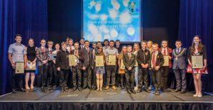 Mayor Adam Zair with Special Award Winners of the Youth Awards 2017