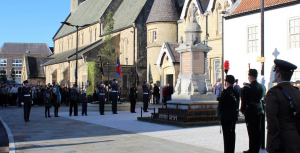 Buglers in Bishop Auckland Market Place