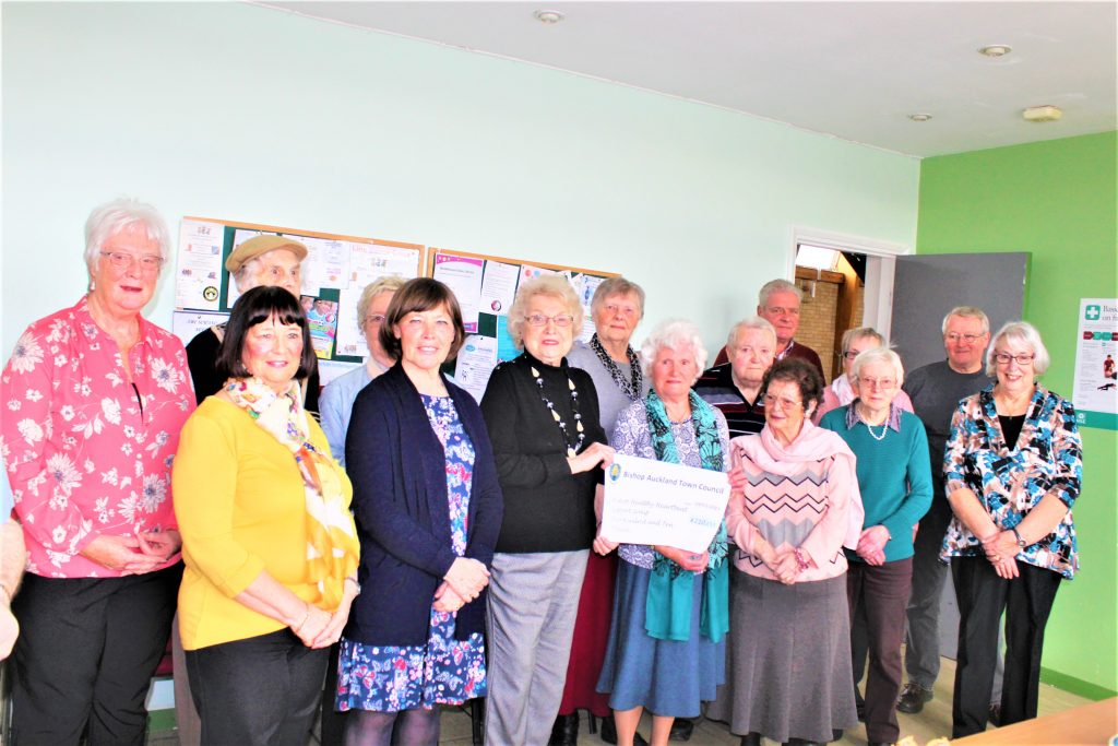 Community Fund Cheque Presentation of £210 to Bishop Auckland Healthy Heartbeat Support Group