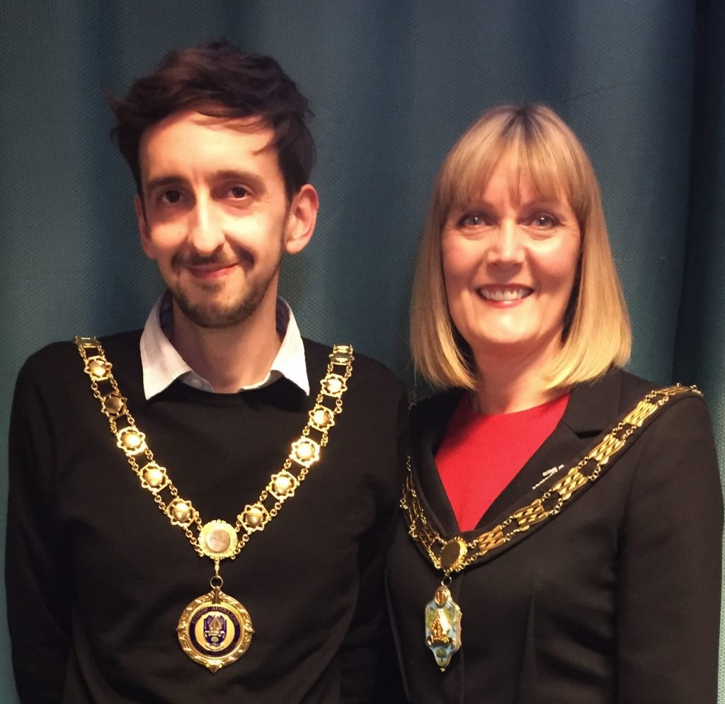 Mayor Joy Allen and Deputy Mayor Jamie Blackburn 2019-20