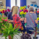 A group of ladies enjoying the flower section of Horticultural and Produce Show