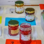 A selection of Jams awarded First and Second Prize in the Horticultural and Produce Show