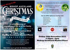 Bishop Auckland Christmas Spectacular Flyer, Friday 20th November 2015