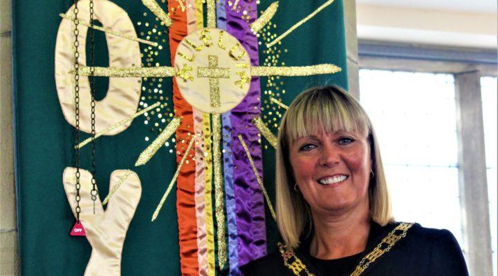 Mayor Joy Allen at Bishop Auckland Baptist Church