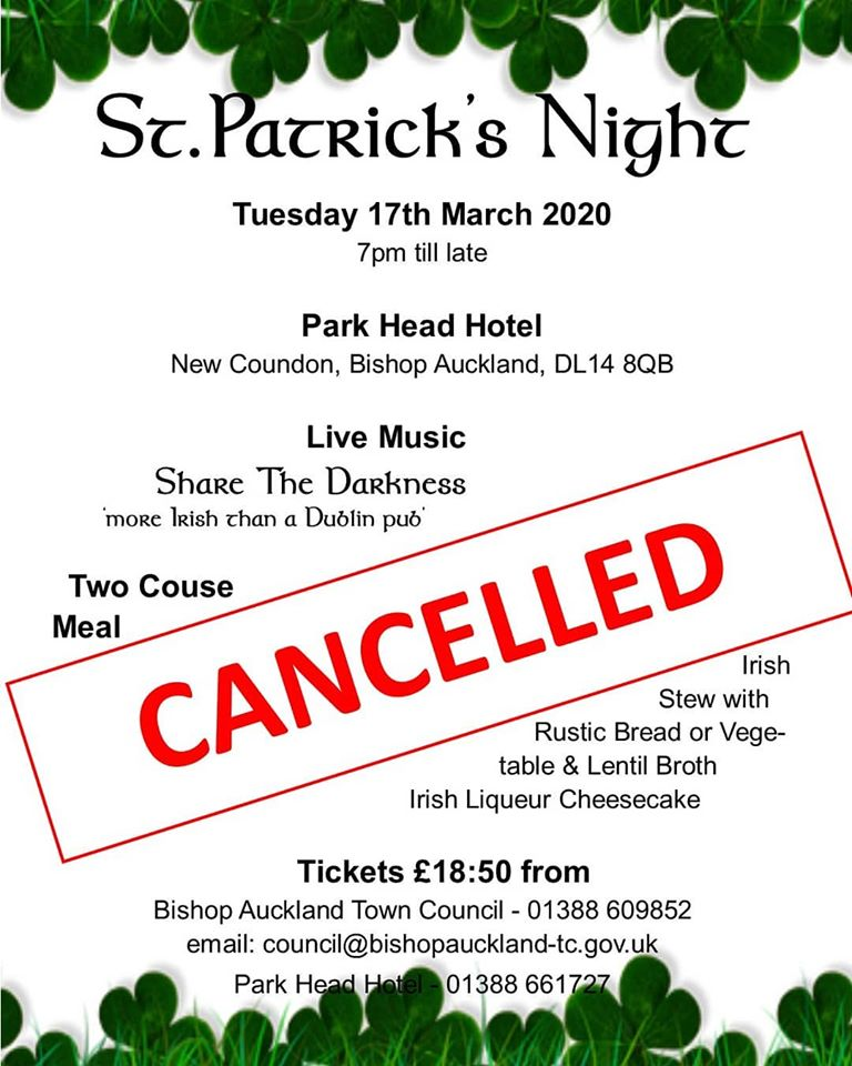 Cancelled: St Patrick's Night 2020