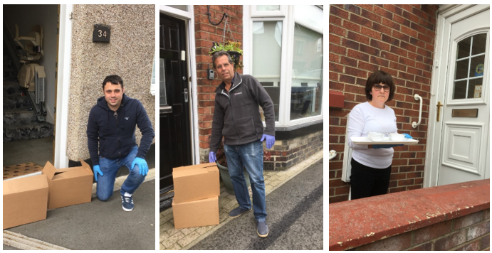 Councillors Adam, Sam and Lesley Zair making community deliveries