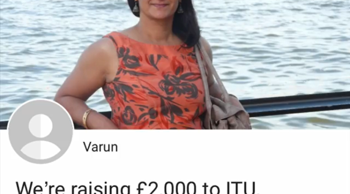 We're raising £2,000 to ITU University Hospital of North Tees