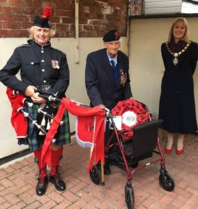 Mayor of Bishop Auckland with Tom Robson and Piper