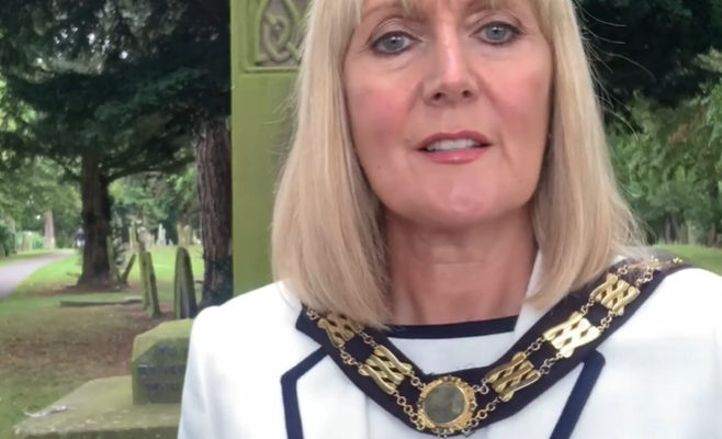 Mayor of Bishop Auckland - 75th Anniversary of VJ Day 2020