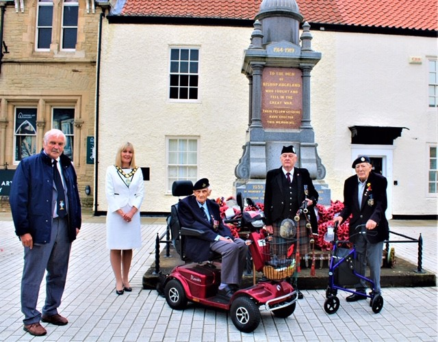 VJ Day in Bishop Auckland Market Place 2020