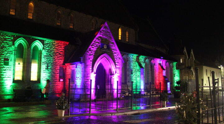 St Anne's Church with lights