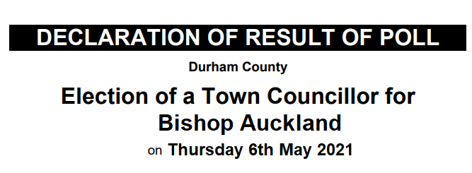 Declaration of Result of Poll, 6th May 2021